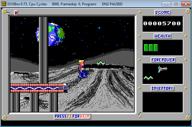 Duke Nukem II: Mission: Moonbase - Publicado en 1991