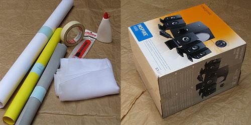 Materiales caja de luz fotográfica
