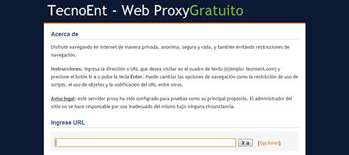 TecnoEnt - Web Proxy Gratuito