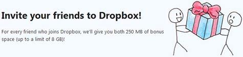 Invita a tus amigos a unirse a Dropbox!
