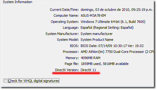DirectX Diagnostic Tool - System-Information