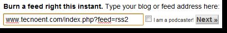 URL Feed en FeedBurner