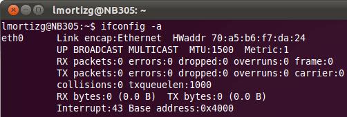 ifconfig Linux Ubuntu