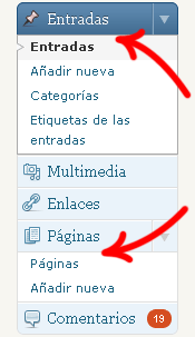 Editar Páginas o Entradas en WordPress
