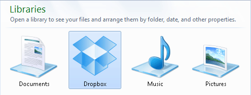 Personalizar icono Libreria Windows 7 - Dropbox