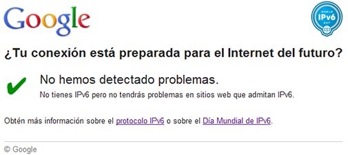 Google IPv6 Test