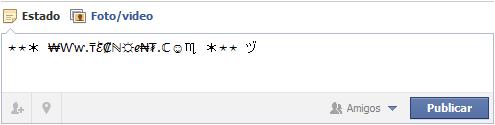 Símbolos Facebook