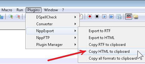 Copiar HTML al Portapapeles