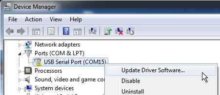 Administrador de dispositivos - Actualizar drivers