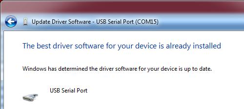 El mejor controlador para su dispositivo ya se encuentra instalado