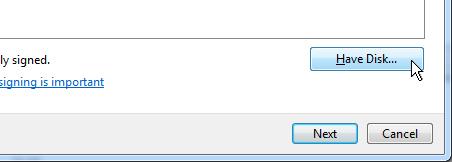 Actualizar sofware de controlador - Usar disco